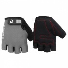 MOKE Bike Riding Anti-Slip Semi-Finger Gloves - Grey (L, Pair)