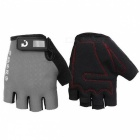 MOKE Bike Riding Anti-Slip Semi-Finger Gloves - Grey (XL, Pair)