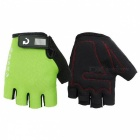 MOKE Bike Riding Anti-Slip Semi-Finger Gloves - Green (M, Pair)