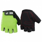 MOKE Bike Riding Anti-Slip Semi-Finger Gloves - Green (XL, Pair)