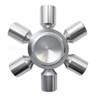 Dayspirit Six-Bead Finger Stress Relief Gyro Rotator Toy - Silver