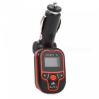 KELIMA Universal Car FM Transmitter, MP3 Player - Black, Orange