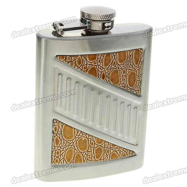 Stainless Steel Pocket Liquor Flask with Funnel (5oz/142g)