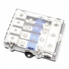 IZTOSSA F1598 4-Way Fuse Holder with Fuse Plate (Blue 60A)