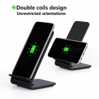 Itian A8 10W Fast Wireless Charger Stand for Samsung S8, S8+ - Black