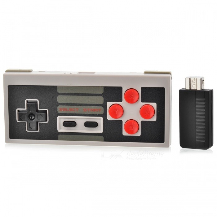 8Bitdo Mini Classic Wireless Controller with Receiver Suit - Black