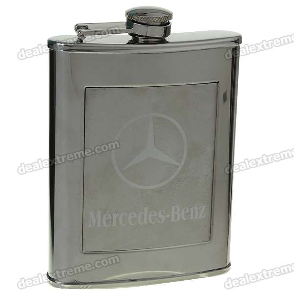 Stainless Steel Pocket Liquor Flask with Funnel - Car Logo (8oz/227g)