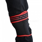1135 Multi-Functional Outdoor Knee Pad - Black, Red (XL)