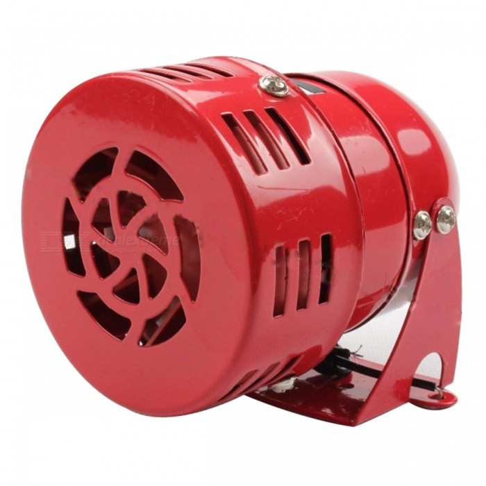 AC 220V Universal Automotive Air Raid Siren Horn Driven Alarm - Red
