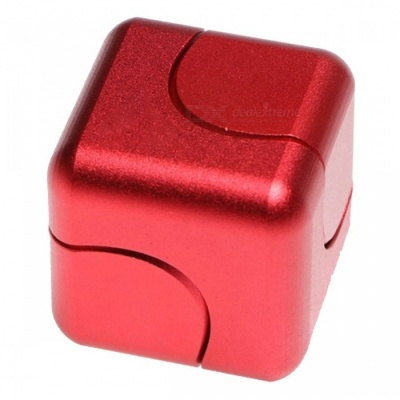 OJADE Rubik's Cube Shape Hand Spinner EDC Toy for ADHD - Red