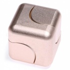 OJADE Rubik's Cube Shape Hand Spinner EDC Toy for ADHD - Rose Golden