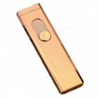 ZHAOYAO Windproof Charging Double-Sided Mini Pocket USB Lighter - Gold