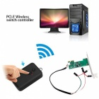 Cwxuan 2.4GHz Wireless Remote Computer Power Reset Switch - Black