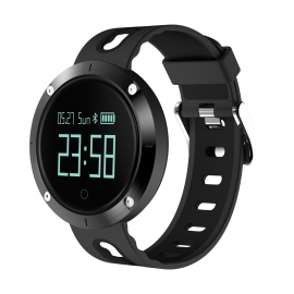 Eastor DM58 Waterproof Smart Watch with Heart Rate Monitor - Black