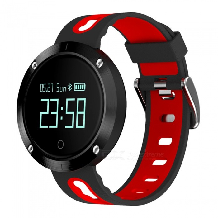 Eastor DM58 Waterproof Smart Watch with Heart Rate Monitor - RedSmart Watches<br>Form  ColorRedModelDM58Quantity1 pieceMaterialMetal + RubberShade Of ColorRedCPU ProcessorNRF51822Screen Size0.95 inchScreen Resolution96*64Bluetooth VersionBluetooth V4.0Compatible OSISO8.0 and above, Android 4.3 and above (with Bluetooth 4.0)LanguageEnglish, Japanese, Korean, German, Russian, Spanish, Italian, French, Vietnamese, PortugueseWristband Length23.6 cmWater-proofIP67Battery ModeNon-removableBattery TypeLi-polymer batteryBattery Capacity120 mAhStandby Time25 daysPacking List1 x Smart Watch1 x Charging Cable1 x User Manual<br>