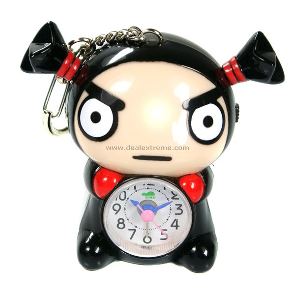 Mini Pucca Clock Keychain Free Shipping Dealextreme