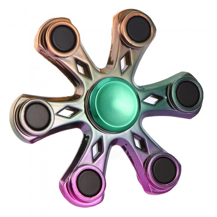 Daypirit Hexagon Shaped Fidget Stress Relief Spinner à main-multicolore