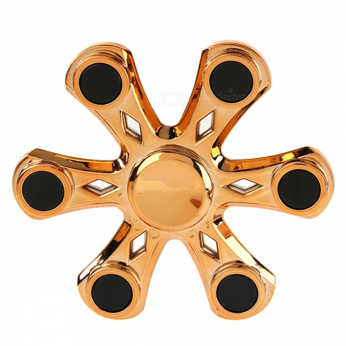 Dayspirit Hexagon Shaped Fidget Stress Relief Hand Spinner - Golden