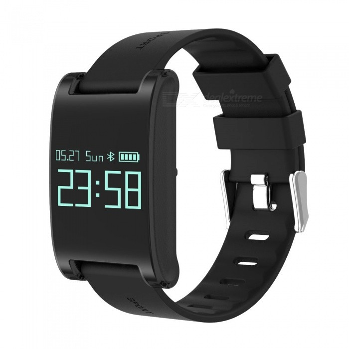 DM68 Waterproof Smart Bracelet with Blood Pressure Heart Rate - Black