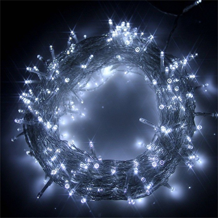 31V 10m 100-LED 8-Mode Kaltes Weißes Licht Starry String Light (US Plugs)