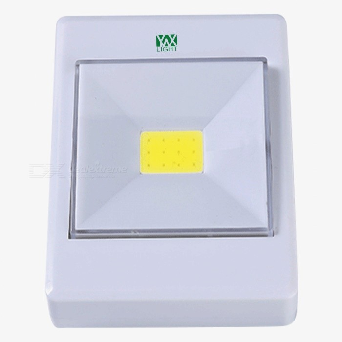YWXLight 3W LED COB Lamp with Magnetic Emergency Night Light Switch