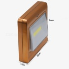 YWXLigh 3W Magnetic Mini COB LED Wall Night Light - Golden