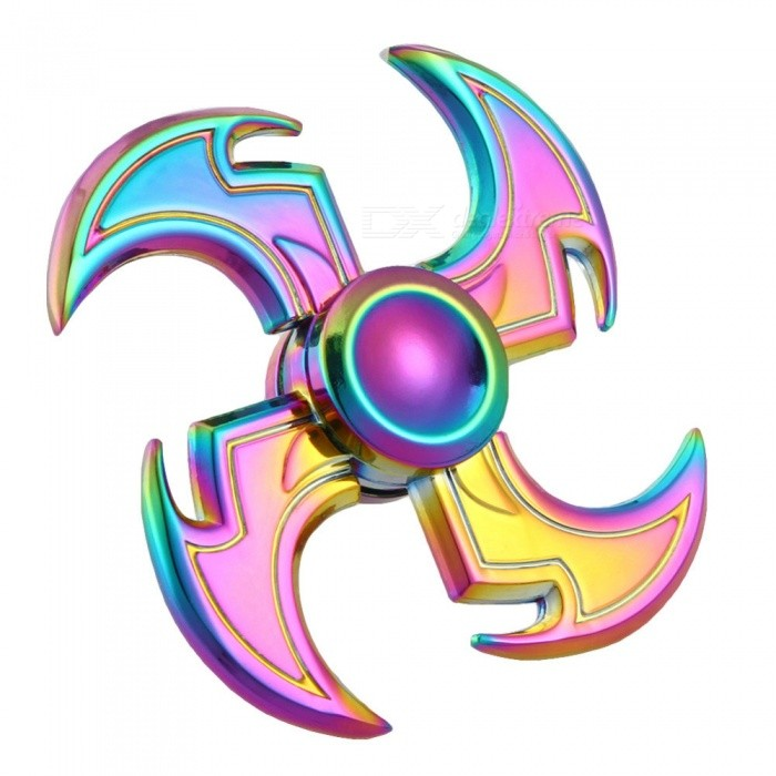 Dayspirit Rainbow Sickle Style Fidget Releasing Hand SpinnerFinger Toys<br>Form  ColorMulticolorMaterialZinc alloyQuantity1 pieceSuitable Age 5-7 years,8-11 years,12-15 years,Grown upsPacking List1 x Spinner<br>