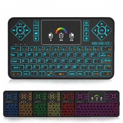 BLCR Q9 Backlight 2.4GHz Wireless Mini Keyboard with Touchpad