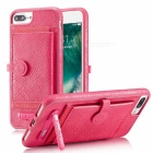 Кожаный чехол BLCR PU с гнездами для карт для IPHONE 6S Plus, 6 Plus - Pink