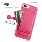 BLCR PU Leather Case w/ Card Slots for IPHONE 6S Plus, 6 Plus - Pink