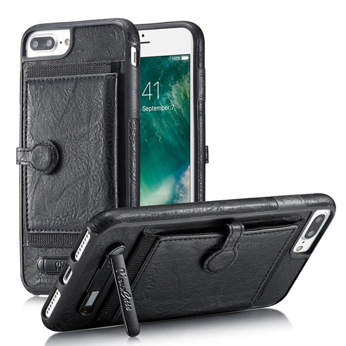 BLCR PU Leather Case w/ Card Slots for IPHONE 6S Plus�� 6 Plus - Black