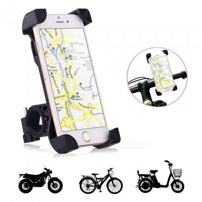 Universal Bike Bicycle Phone Mount Holder Stand for IPHON Samsung HTCBike Holder<br>Form  ColorBlackQuantity1 pieceMaterialPlasticBest UseCycling,Mountain Cycling,Recreational Cycling,Road Cycling,Triathlon,Bike commuting &amp; touringTypePhone HoldersPacking List1 x Bike holder<br>