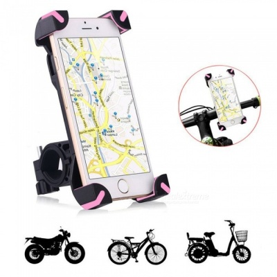 Universal Bike Bicycle Phone Mount Holder Stand fr IPHONE - Deep Pink