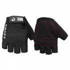 MOKE Bike Riding Anti-Slip Semi-Finger Gloves - черный (M, пара)