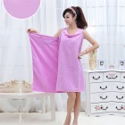 180 x 78cm Soft Wearable Drying Bath Towel Bathrobes - Light Purple