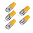 SZFC 5Pcs 5W G4 AC DC 12V Hot White Light Silicone LED Ampoules