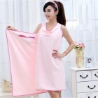 180 x 78cm Soft Wearable Drying Bath Towel Wrap Bathrobes - Pink