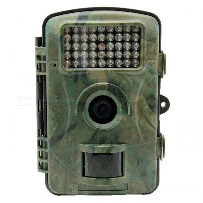 12MP 1080p HD Trail Camera Game Hunting Camera w/ 16GB Memory CardCamcorders<br>Form  ColorCamouflage + Green + Multi-ColoredShade Of ColorMulti-colorMaterialABSQuantity1 setImage SensorCMOSAnti-ShakeYesFocal Distance3.6 mmFocusing Range10-20mEffective Pixels12MPMax. Pixels12MP = 4032x30248MP = 3264?2448<br>5MP = 2560?1920 pixelsPicture FormatsJPEGStill Image Resolution12MP = 4032x30248MP = 3264?2448<br>5MP = 2560?1920Video FormatAVIVideo Resolution1920 x 1080p 15 fps; 1280 x 720p 30fps; 848 x 480p 30 fps; 640 x 480pVideo Frame Rate30Cycle RecordYesISO200Exposure Compensation3;-2Supports Card TypeSDSupports Max. Capacity32 GBBuilt-in Memory / RAM16GBLCD ScreenYesScreen TypeTFTScreen Size2.4 inchScreen Resolution1080PBattery included or notNoBattery Measured Capacity N/A mAhNominal CapacityN/A mAhBattery TypeAABattery Quantity8 setWaterproofYesSupported LanguagesEnglishPacking List1 X Wildlife Camera1 x Strap2 x Screws1 x Cable1 x Instruction manual1 x 16GB SD card<br>