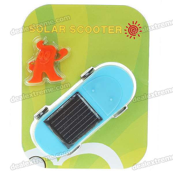 Mini Solar Powered Scooter (Orange + Blue)
