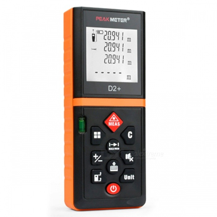 PEAKMETER 60m Handheld Laser Distance Meter with Removable Clip