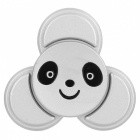 BLCR Panda Head Pattern Tri-Style Toy EDC Finger Spinner - Silver
