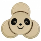 BLCR Panda Head Pattern Tri-Style Toy EDC Finger Spinner - Golden