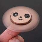 BLCR Panda Head Pattern Tri-Style Toy EDC Finger Spinner - Rose Golden