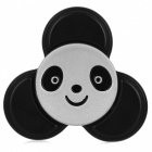 BLCR Panda Head Pattern Tri-Style Toy EDC Finger Spinner - Black