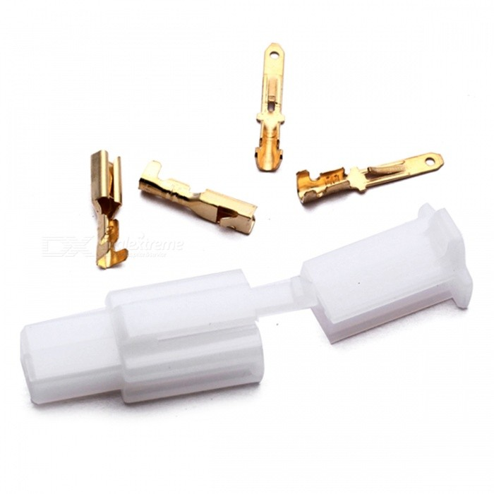 QooK Motorcycle Car Boat Male Female 2 Way Connectors 2.8mm