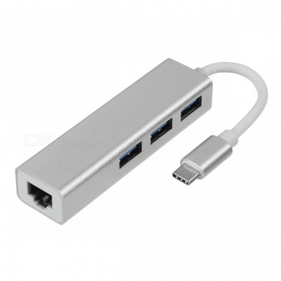 BSTUO Type-C to 3-Port USB3.0 HUB with Gigabit Ethernet Adapter