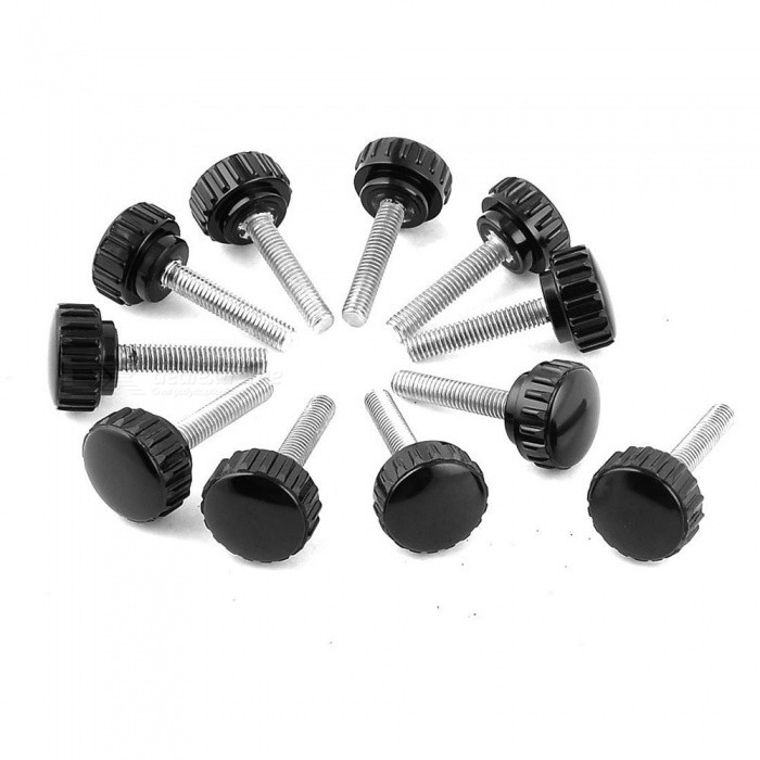 M6 x 22 x 30mm Straight Handles Knurled Knobs (11 PCS)