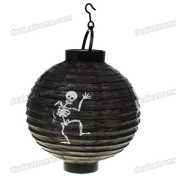 Skull Pattern Paper Lanterns/Lamps - Black (2-Pack/2*AAA)