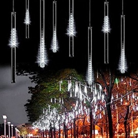 30cm 144 LEDs 8 Tubes Meteor Shower Rain Star-fall Lights Cold White