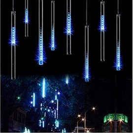 30cm 144 LEDs 8 Tubes Meteor Shower Rain Star-fall String Lights Blue